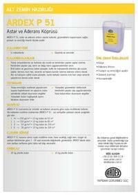 ARDEX P51 Kısa Bilgi Föyü Kapak